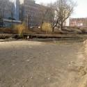 mokra fosa Gdańsk po spuszczeniu wody