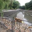 mokra fosa Gdańsk początek napełniania zbiornika