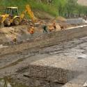 mokra fosa Gdańsk umocnienie brzegów i konstrukcja pomostu