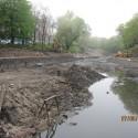 mokra fosa Gdańsk umocnienie brzegów koszami siatkowo kamiennymi